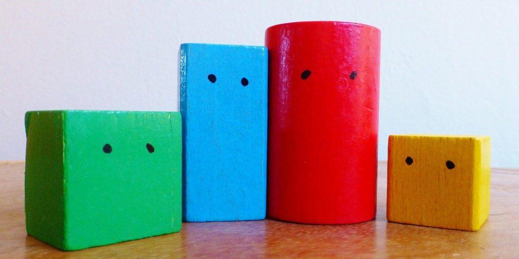multi-colored toy blocks