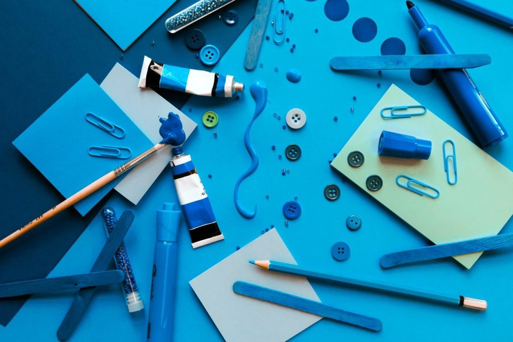 blue arts and crafts
